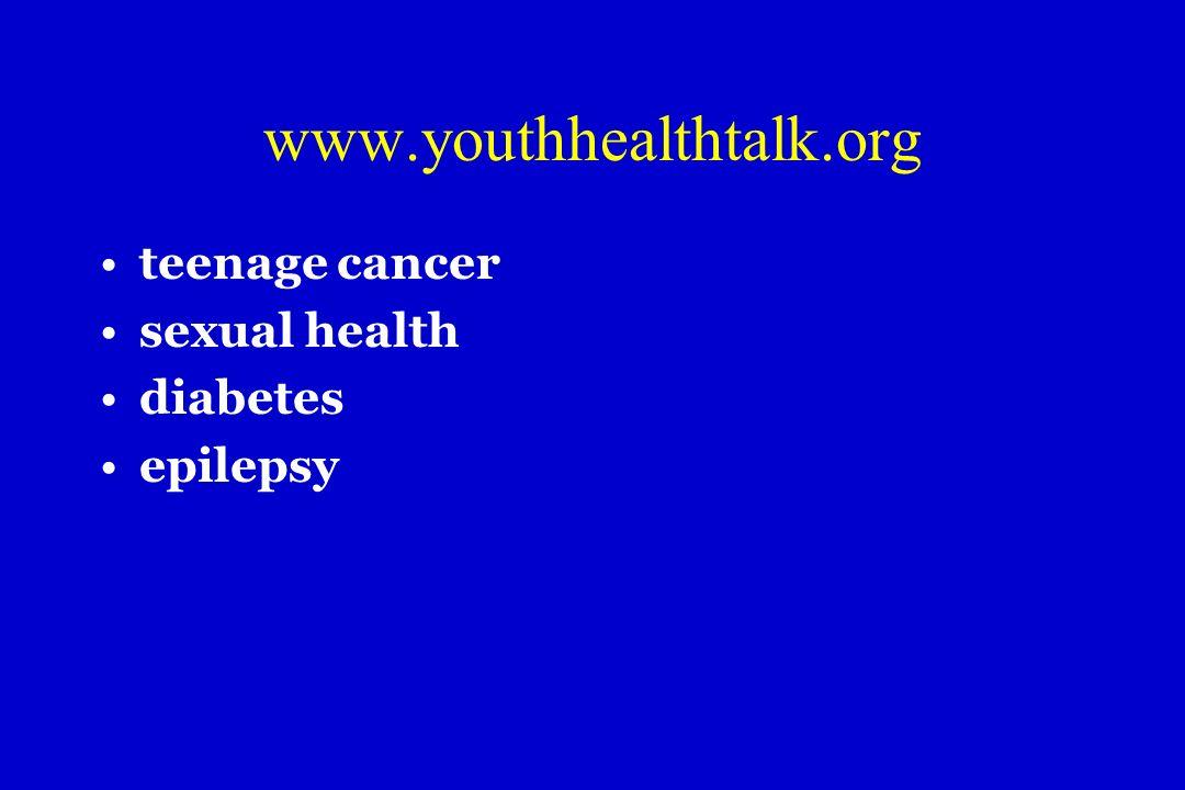 www.youthhealthtalk.org teenage cancer sexual health diabetes epilepsy