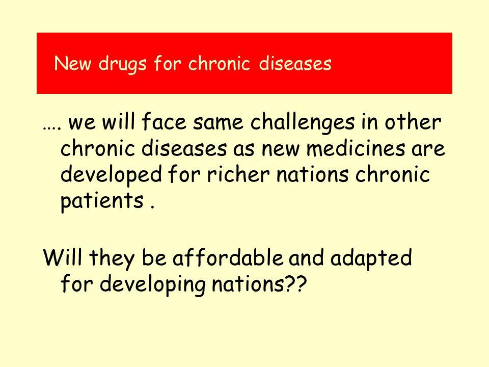 New drugs for chronic diseases ….