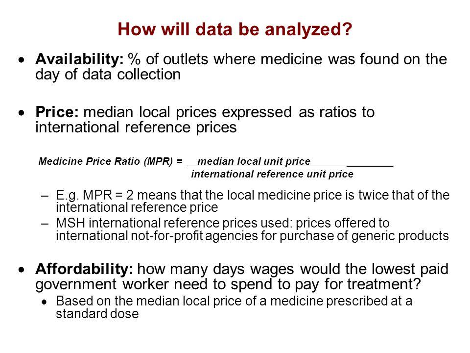 How will data be analyzed.