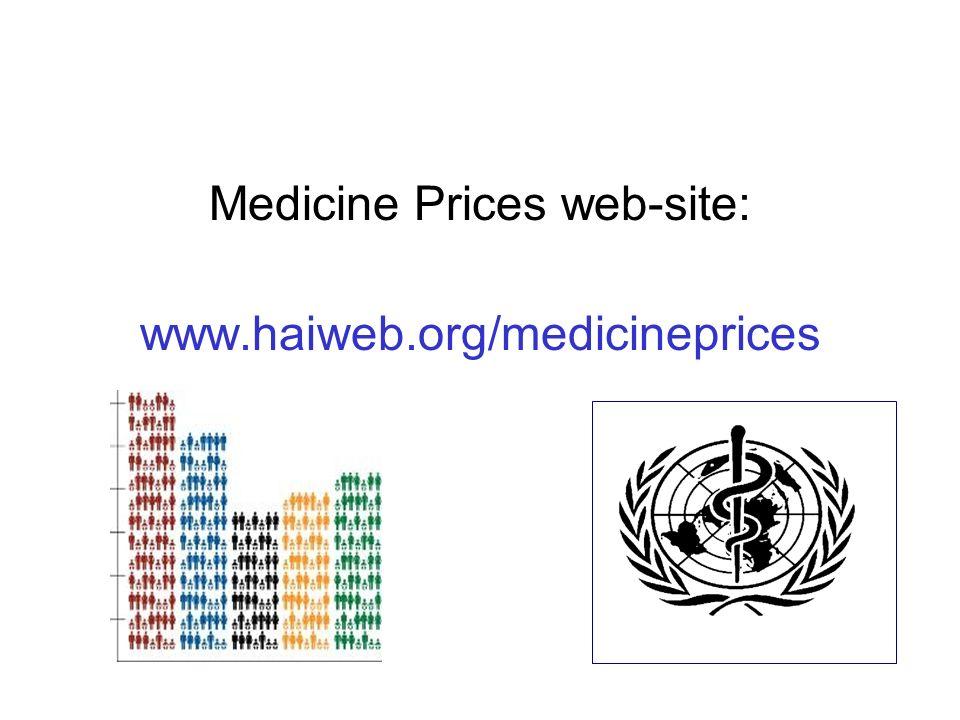 Medicine Prices web-site: www.haiweb.org/medicineprices