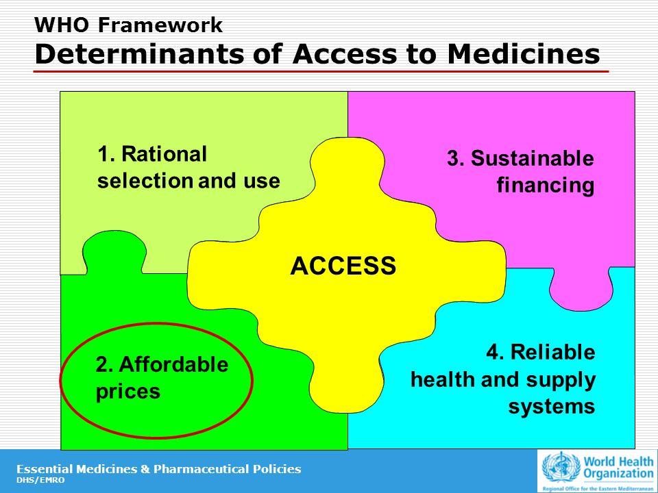 Essential Medicines & Pharmaceutical Policies DHS/EMRO Essential Medicines & Pharmaceutical Policies DHS/EMRO 1.