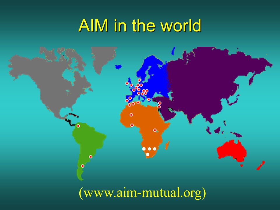 AIM in the world (