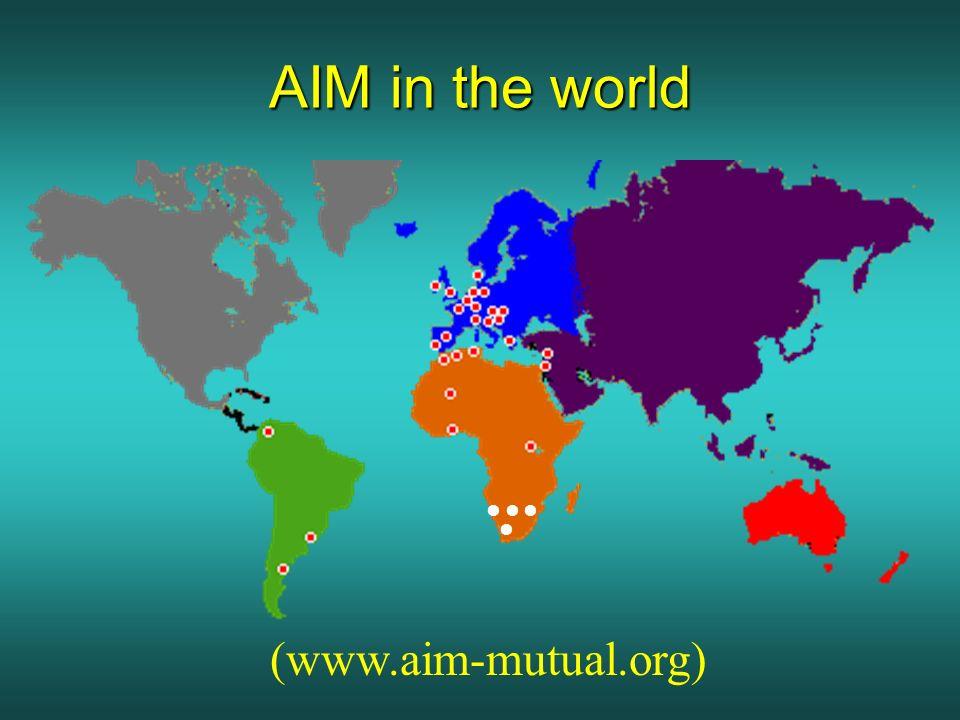 AIM in the world (www.aim-mutual.org)