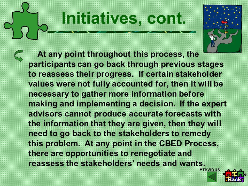 Initiatives, cont.