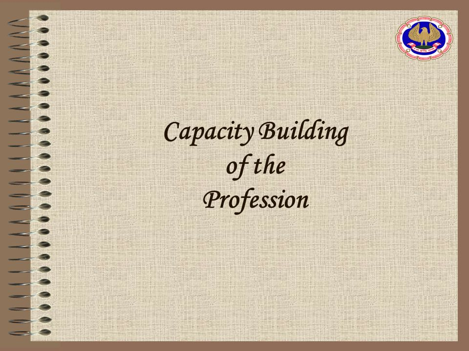 Capacity Building of the Profession