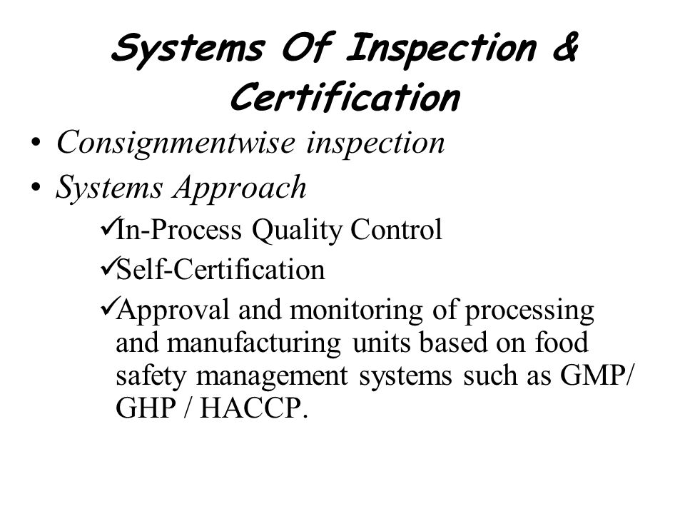3-tier Surveillance System MONITORING BY EIA OFFICIALS TO VERIFY –Sanitation & Hygiene –Process controls –Implementation of HACCP plan –Records –Observe testing by laboratories –Draw samples of raw materials, water, ice, finished products, swabs of workers hands and work places SUPERVISORY VISITS TO CHECK –Compliance to norms by processors –Quality and correctness of monitoring by EIA officers.