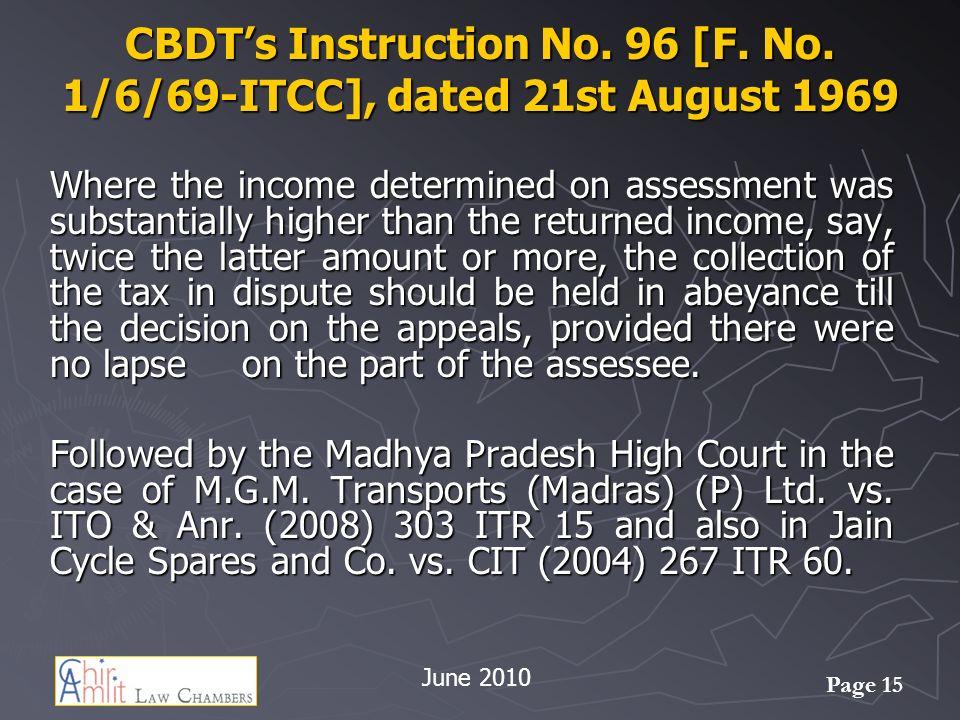 Page 15 CBDTs Instruction No.96 [F. No.