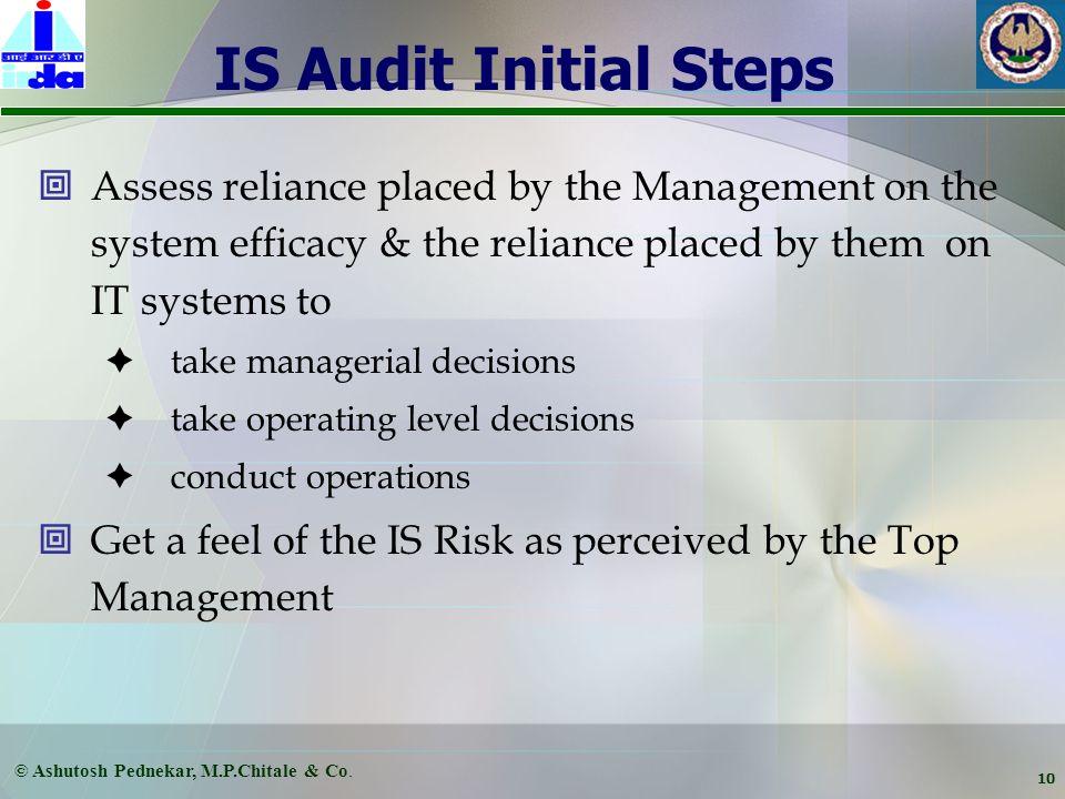 © Ashutosh Pednekar, M.P.Chitale & Co. 9 CIA - Vulnerabilities & Exposures Confidentiality Information Manipulating processes Competitors Integrity Av