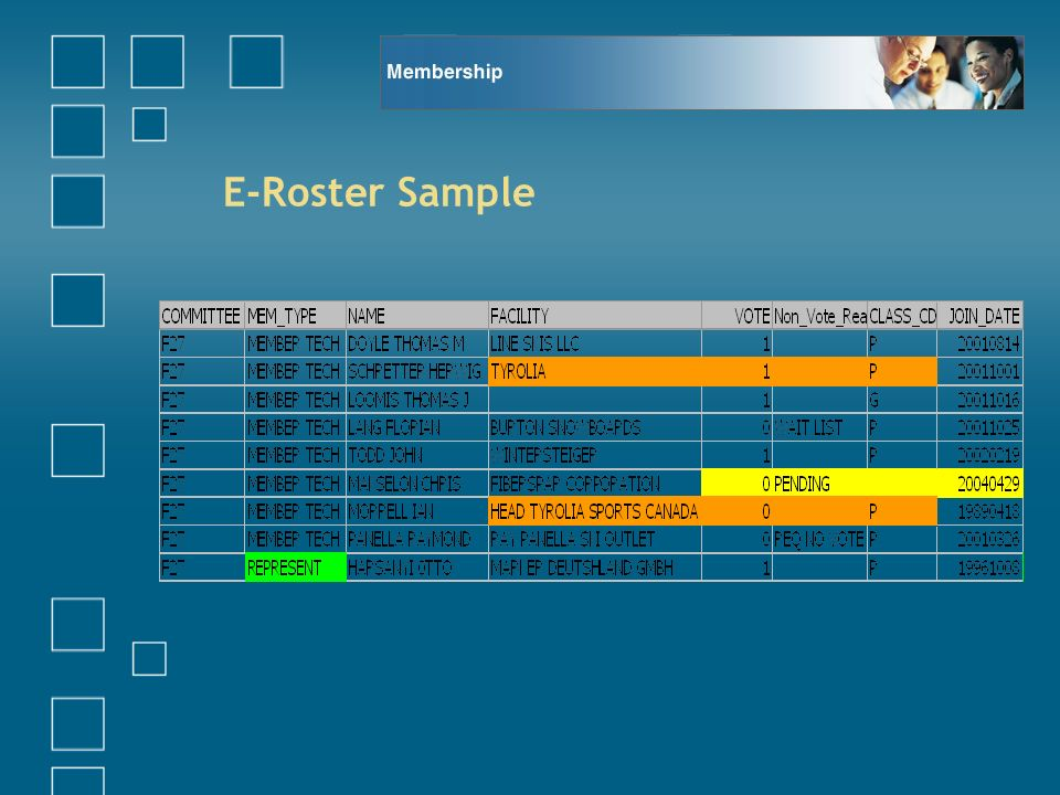 E-Roster Sample