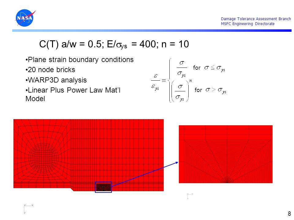 Damage Tolerance Assessment Branch MSFC Engineering Directorate 19 SSY Deformation Limit Determination