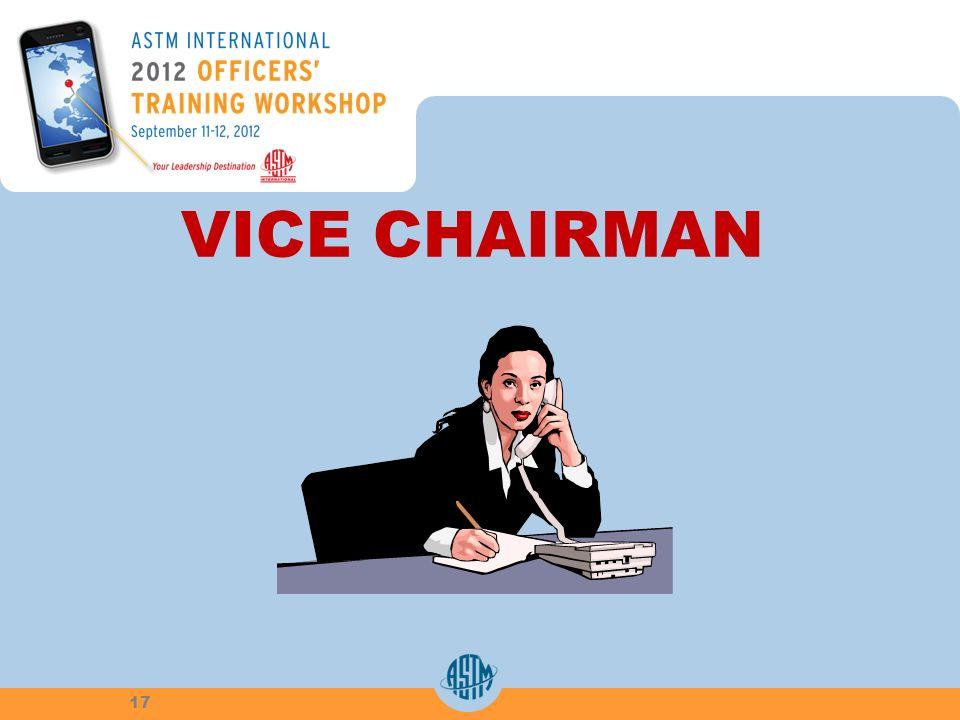 VICE CHAIRMAN 17