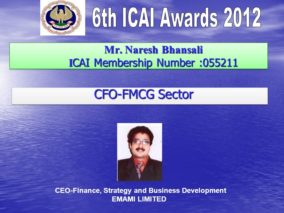 Mr. Naresh Bhansali I CAI Membership Number : Mr.