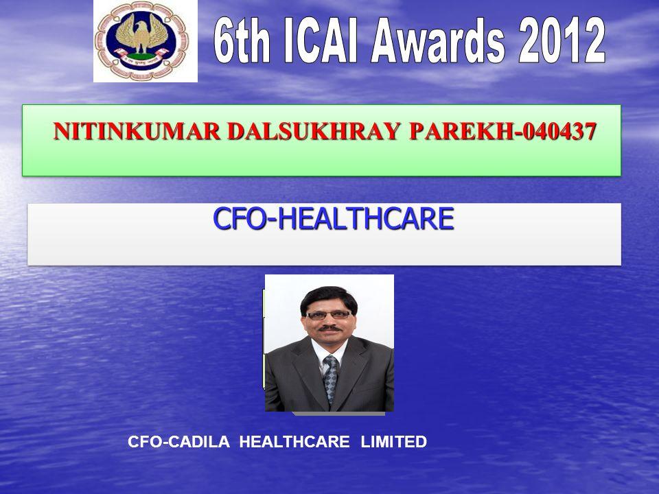 NITINKUMAR DALSUKHRAY PAREKH-040437 NITINKUMAR DALSUKHRAY PAREKH-040437 CFO-HEALTHCARE CFO-HEALTHCARE CFO-CADILA HEALTHCARE LIMITED
