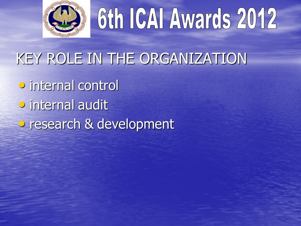 MAJOR ACHIEVEMENTS interal control implemented within 3 months.