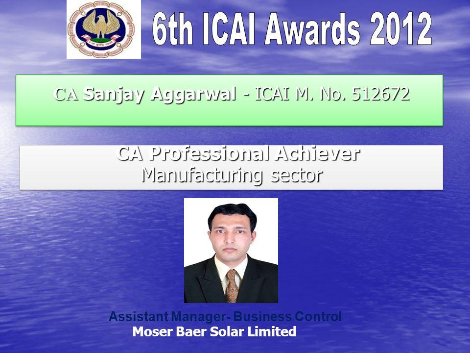 CA Sanjay Aggarwal - ICAI M. No. 512672 CA Sanjay Aggarwal - ICAI M.