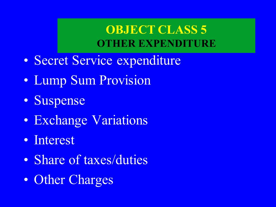 OBJECT CLASS 4 GRANTS ETC Grants-in-Aid Contributions Subsidies Scholarships/Stipend