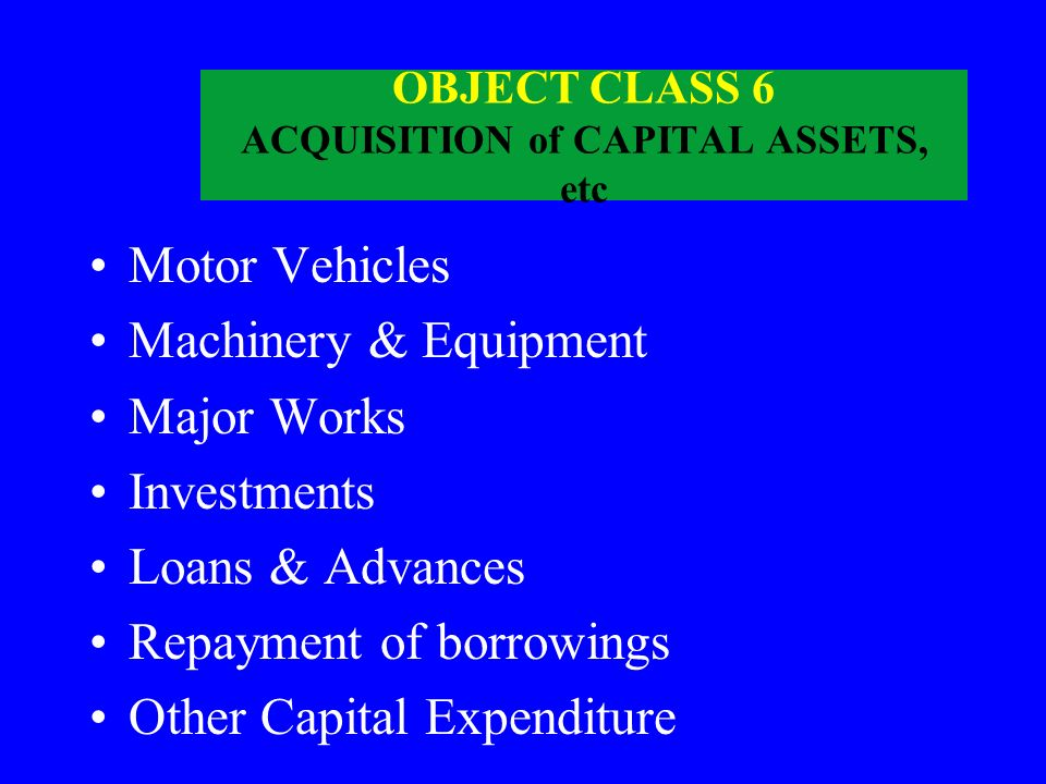 OBJECT CLASS 5 OTHER EXPENDITURE Secret Service expenditure Lump Sum Provision Suspense Exchange Variations Interest Share of taxes/duties Other Charg