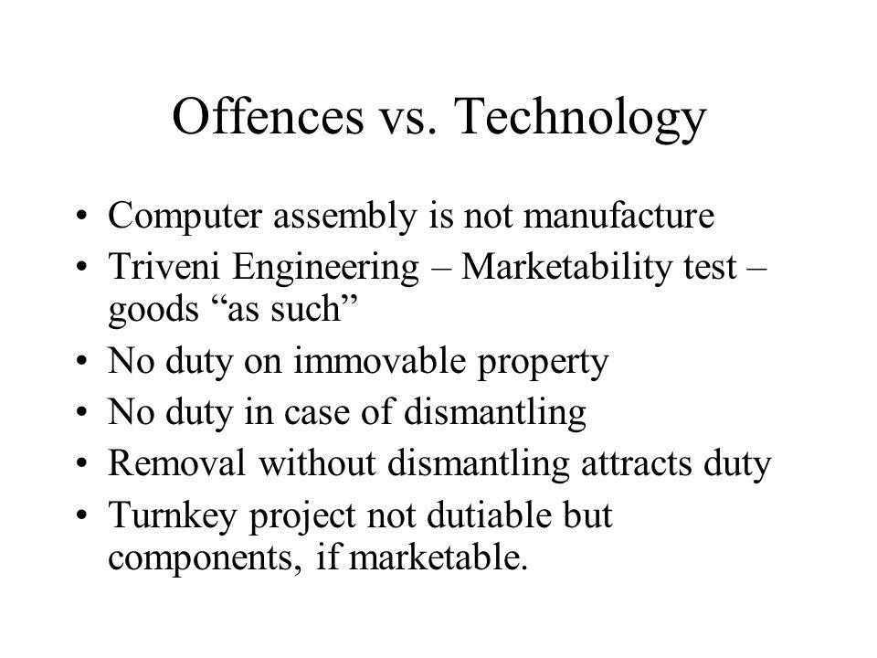 Offences vs.