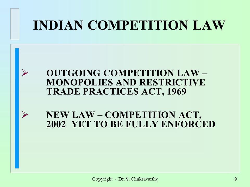 Copyright - Dr. S. Chakravarthy8 INTELLECTUAL PROPERTY RIGHTS AGREEMENT ON TRADE – RELATED ASPECTSOF INTELLECTUAL PROPERTY RIGHTS (TRIPS)