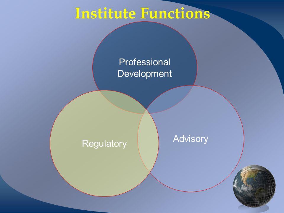 Institute Functions Professional Development Advisory Regulatory