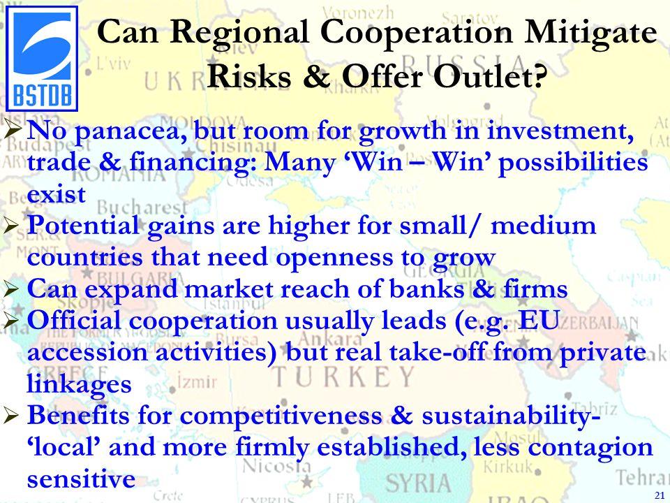 Can Regional Cooperation Mitigate Risks & Offer Outlet.