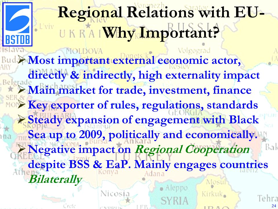 Regional Relations with EU- Why Important.