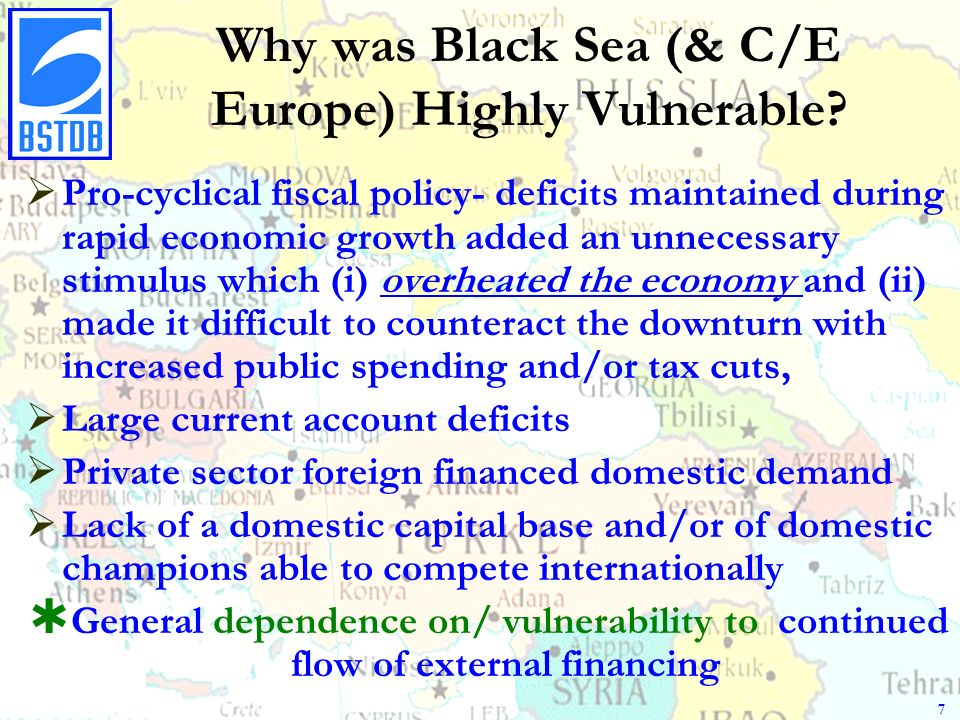 Why was Black Sea (& C/E Europe) Highly Vulnerable.