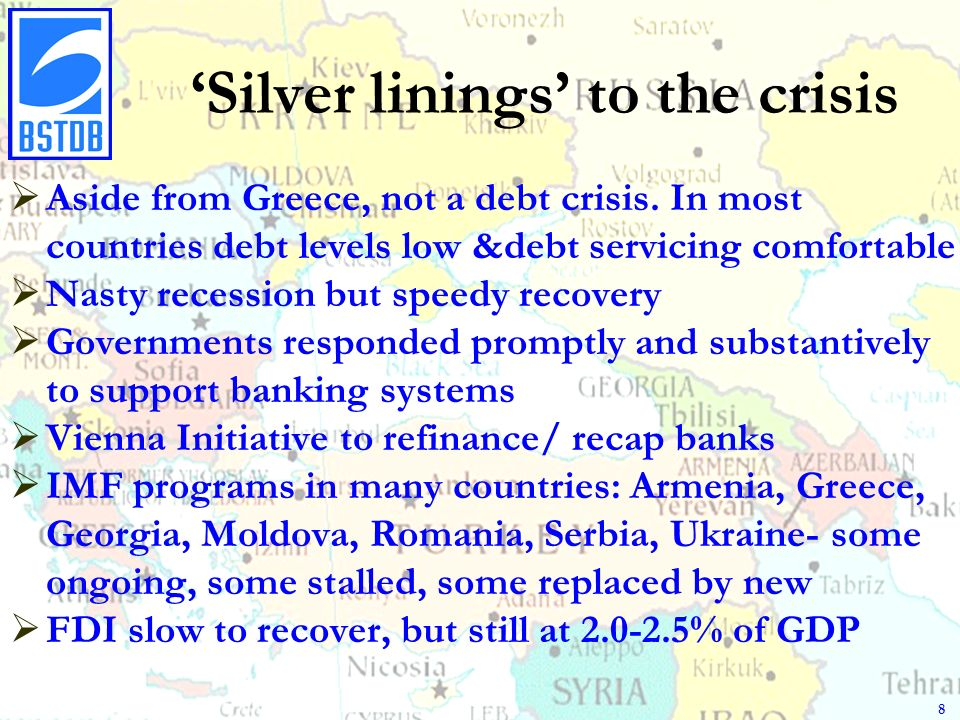 Silver linings to the crisis Aside from Greece, not a debt crisis.