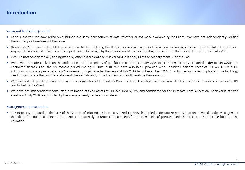 VVSS & Co.© 2010 VVSS &Co. All rights reserved. 14 Company overview – Infologistics India Pvt.