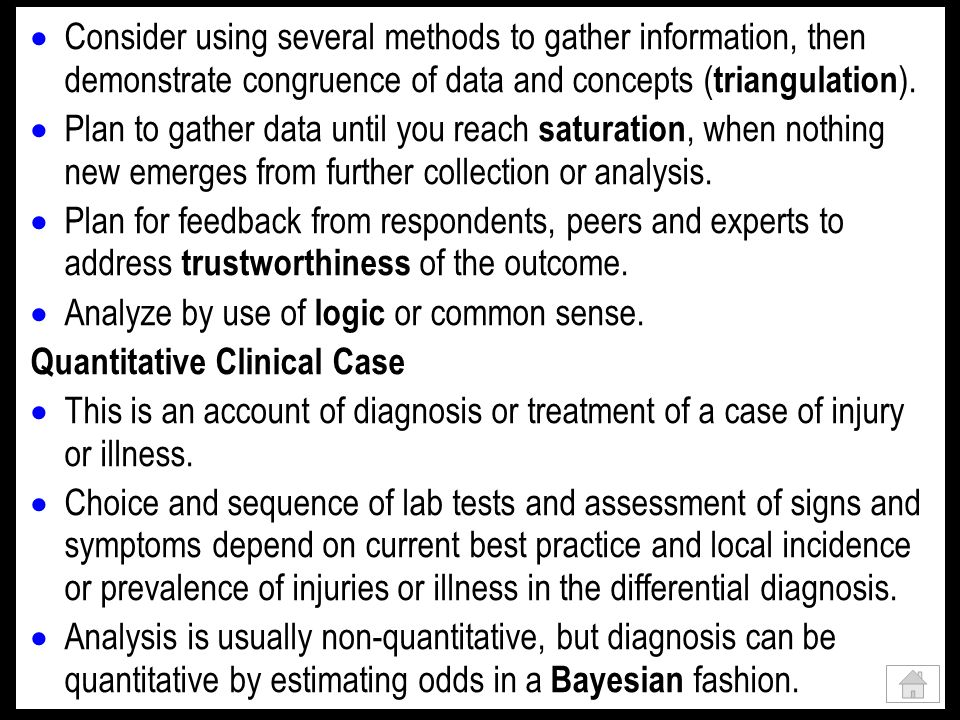 Quantitative Non-Clinical Case The aim is usually to quantify an effect for a single subject.