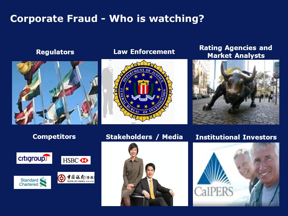 Corporate Fraud - Who is watching.
