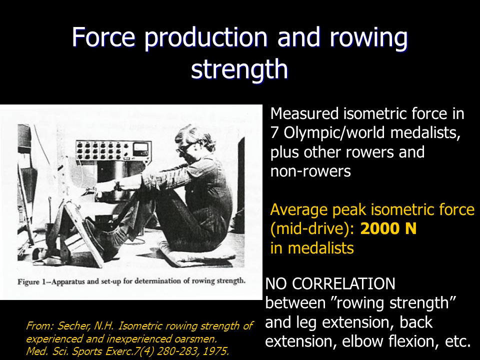Force production and rowing strength From: Secher, N.H.