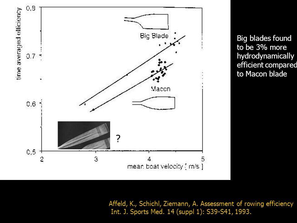 Affeld, K., Schichl, Ziemann, A.Assessment of rowing efficiency Int.