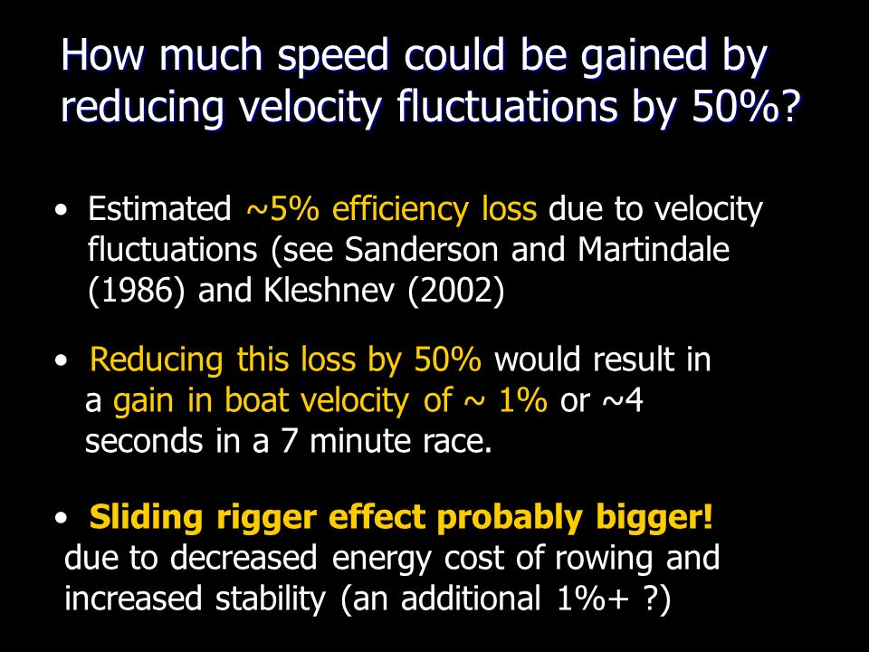 How much speed could be gained by reducing velocity fluctuations by 50%.