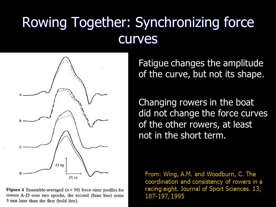 From: Wing, A.M.and Woodburn, C. The coordination and consistency of rowers in a racing eight.