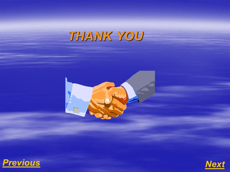 Next Previous THANK YOU