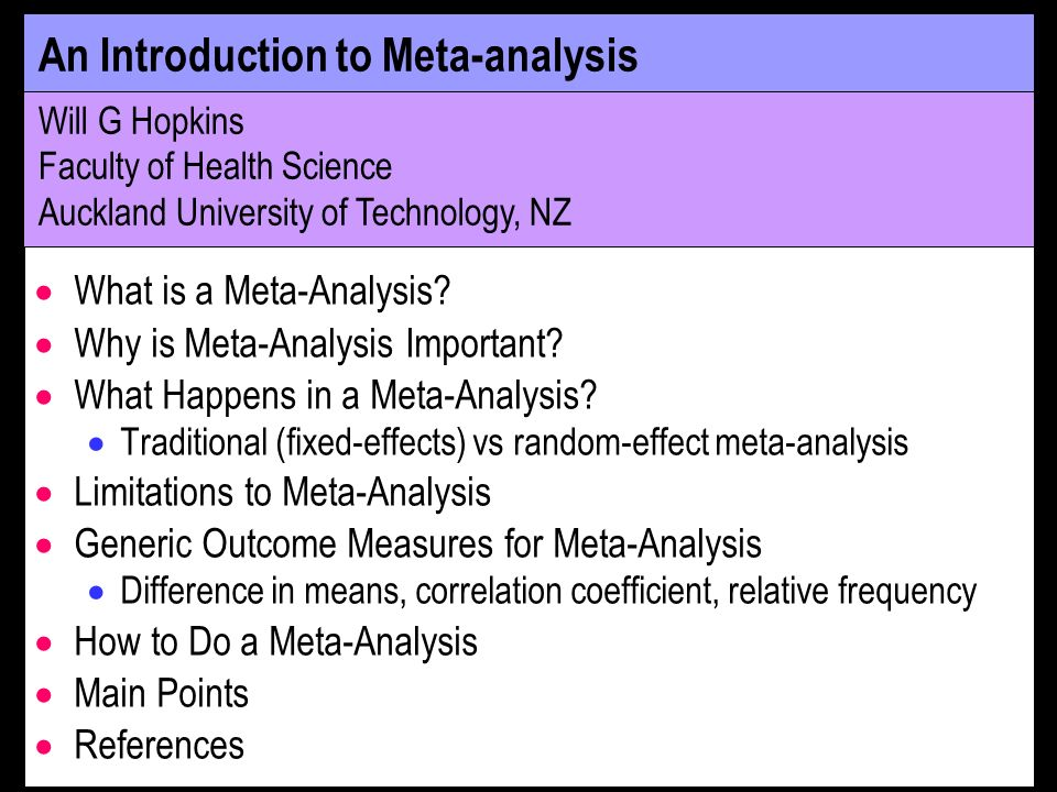 What is a Meta-Analysis.
