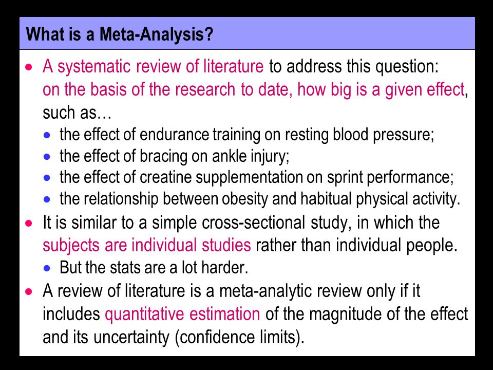 Why is Meta-Analysis Important.