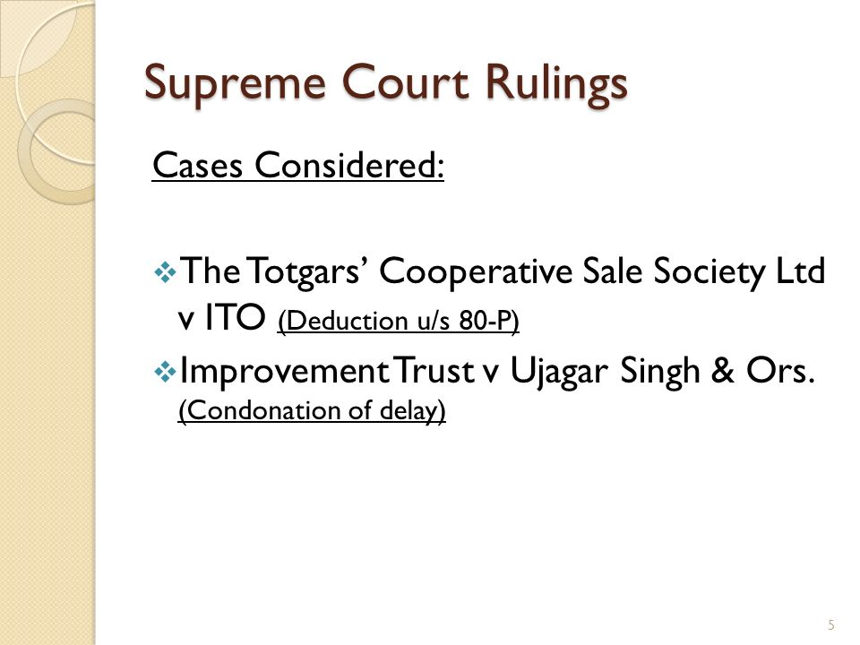 Totgars Co-op Sale Society Ltd v ITO (SC) Whether interest on such deposits/securities made/ purchased out of surplus fund of the assessee, which strictly speaking accrues to the members account, could be taxed as business income under Section 28 of the Act.