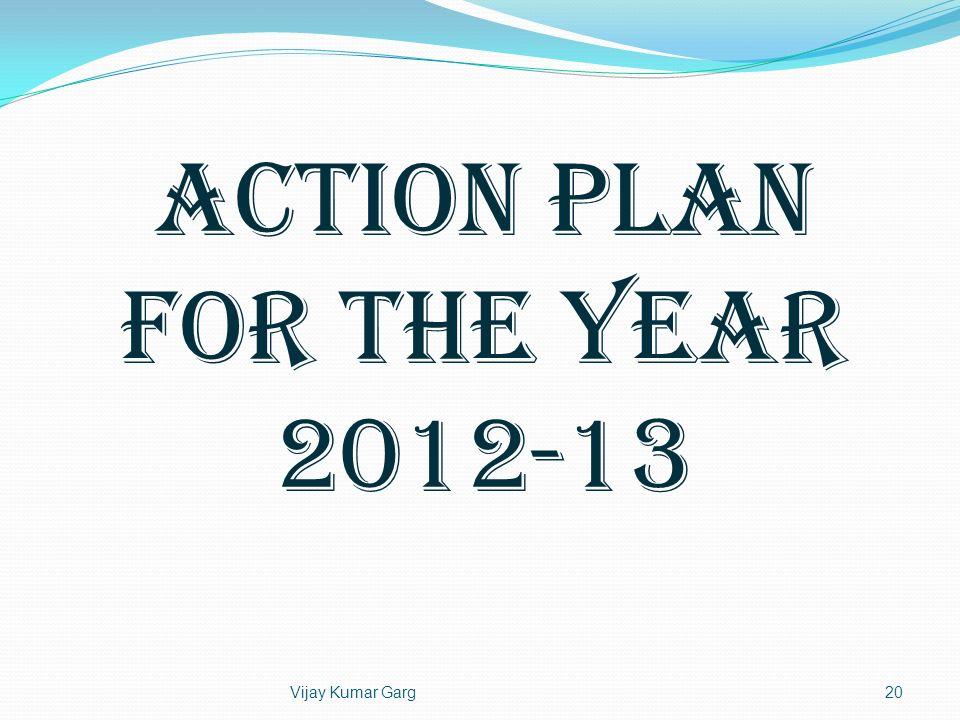 Vijay Kumar Garg20 ACTION PLAN FOR THE YEAR 2012-13