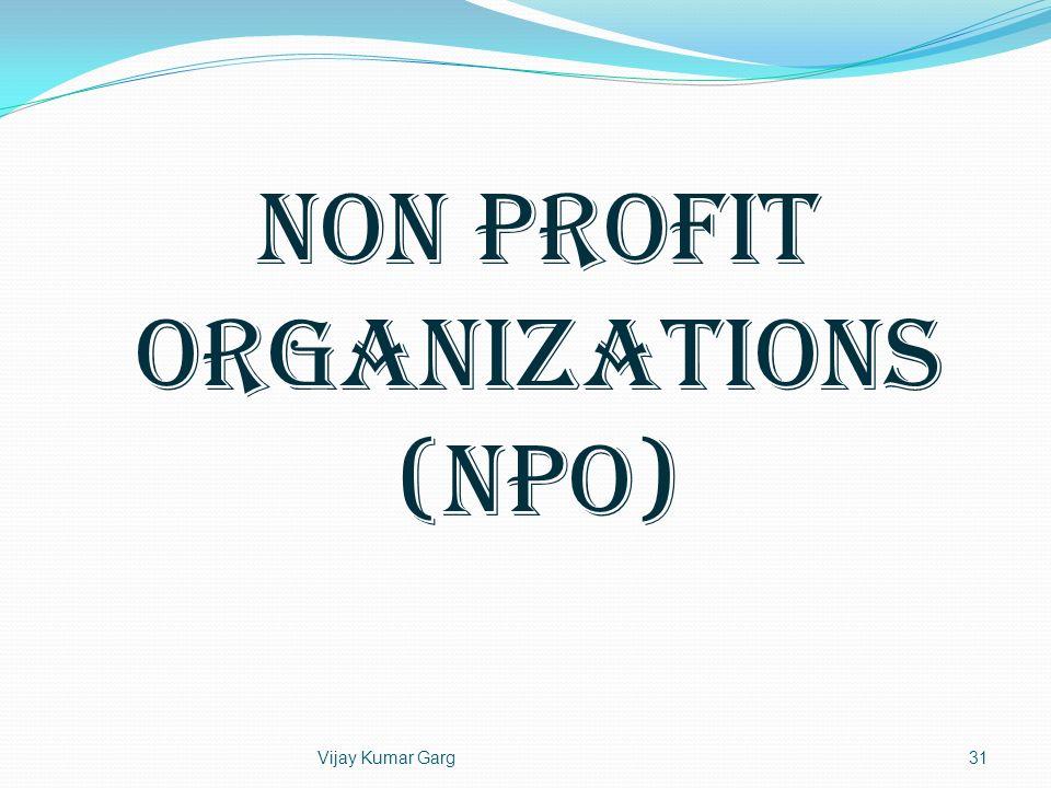 Vijay Kumar Garg31 Non Profit Organizations (NPO)