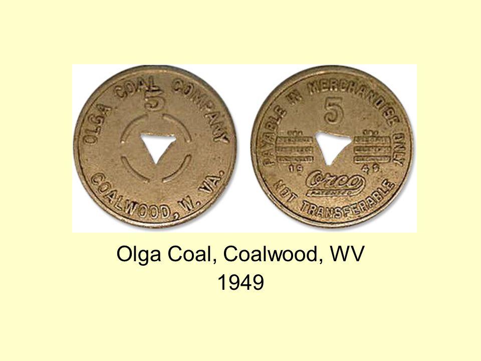 Olga Coal, Coalwood, WV 1949