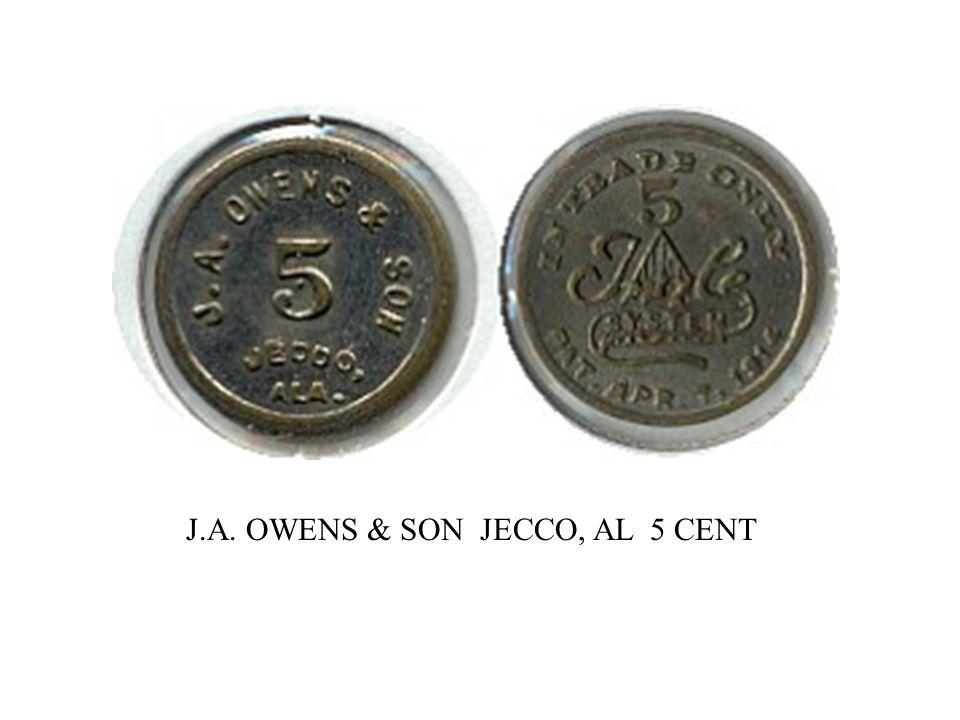 J.A. OWENS & SON JECCO, AL 5 CENT