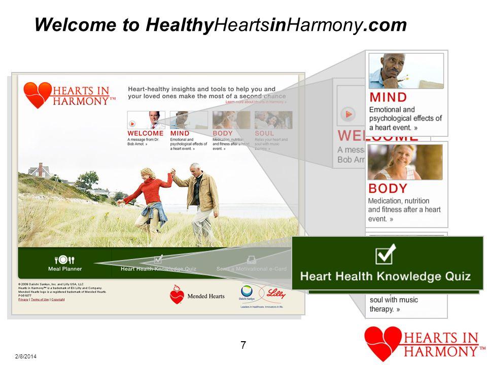 7 2/8/2014 Welcome to HealthyHeartsinHarmony.com