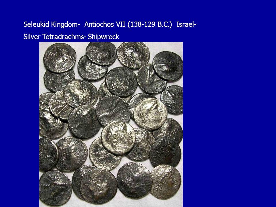 Seleukid Kingdom- Antiochos VII (138-129 B.C.) Israel- Silver Tetradrachms- Shipwreck