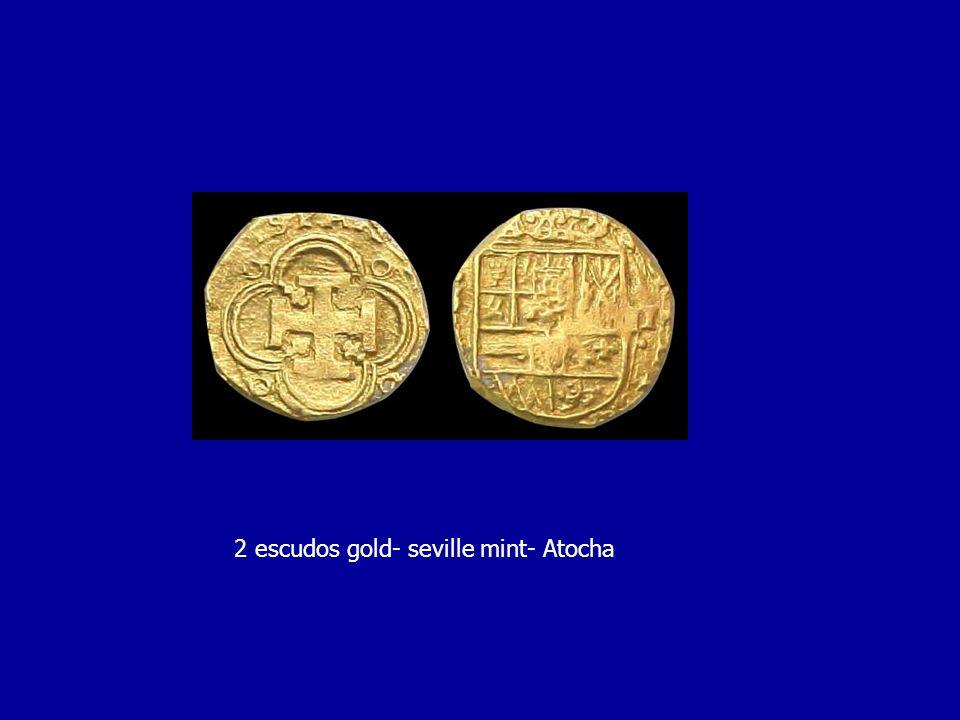 2 escudos gold- seville mint- Atocha