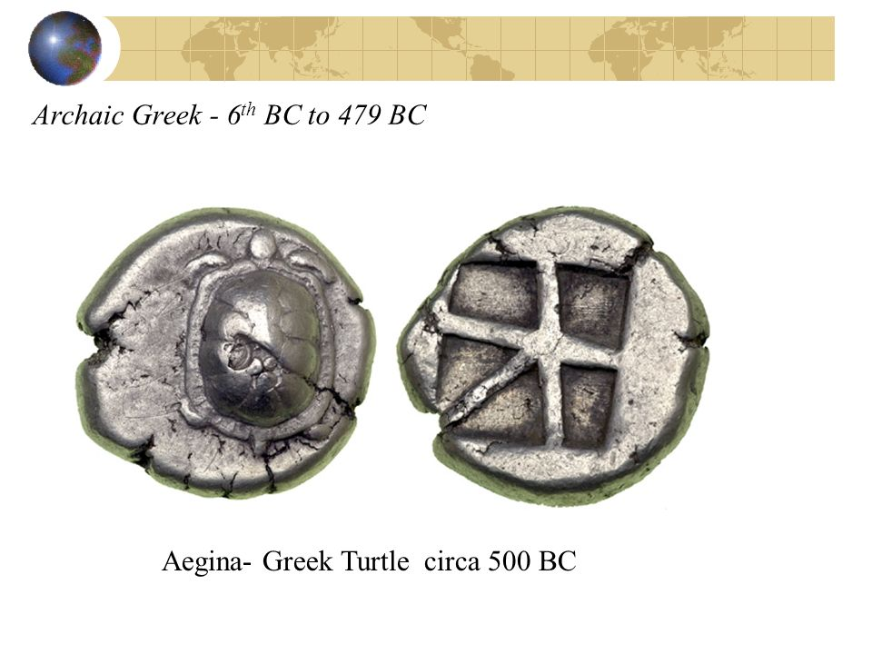 Archaic Greek - 6 th BC to 479 BC Aegina- Greek Turtle circa 500 BC