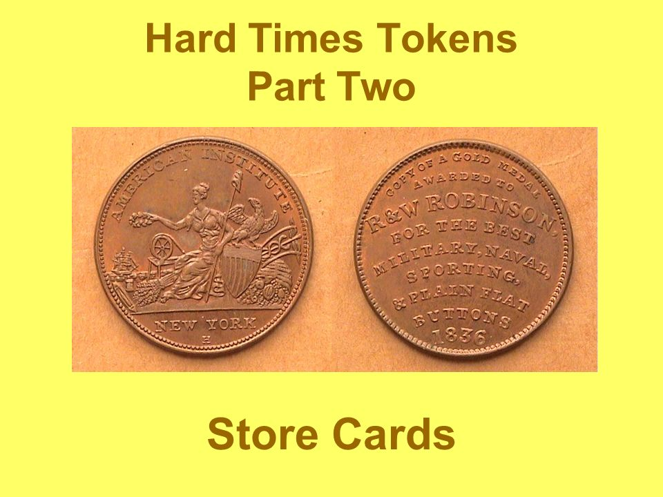 Hard Times Tokens Part Two Store Cards