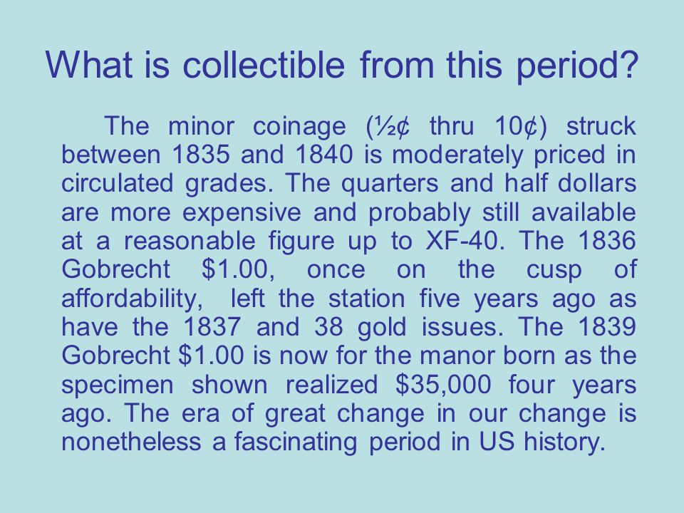What is collectible from this period.
