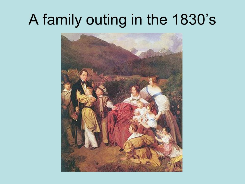 A family outing in the 1830s